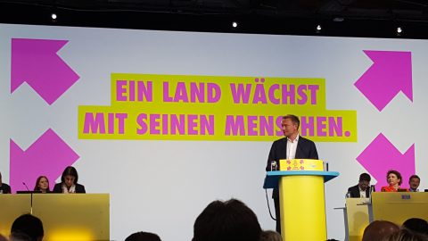 Christian Lindner am Rednerpult