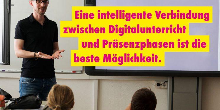 Intelligene Verbindung zwischen Digitalunterricht und Präsenzphasen fordert MdL Franziska Baum