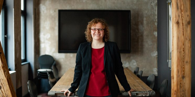 Franziska Baum im Krämerloft zum Thema Finanzierung Freie Schulen