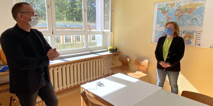 Franziska Baum in der Förderschule Carolinenschule in Greiz