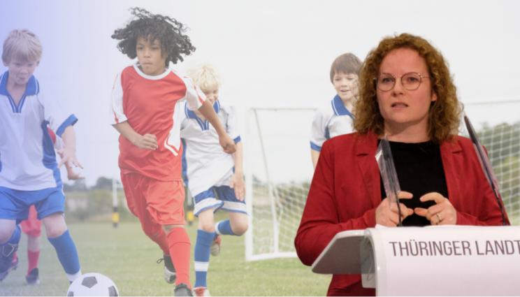Franziska Baum im Online Austausch mit Thüringern Sportvereinen des Breiten- und Jugendsports